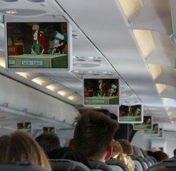 Unterhaltungsprogramm im Flugzeug